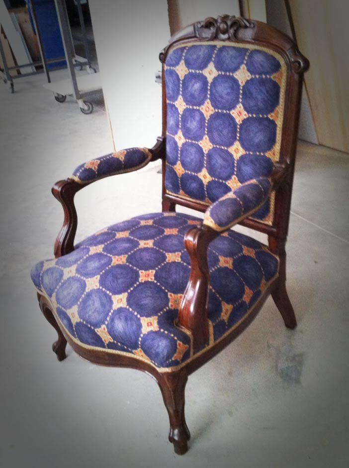 Restauración de sillón